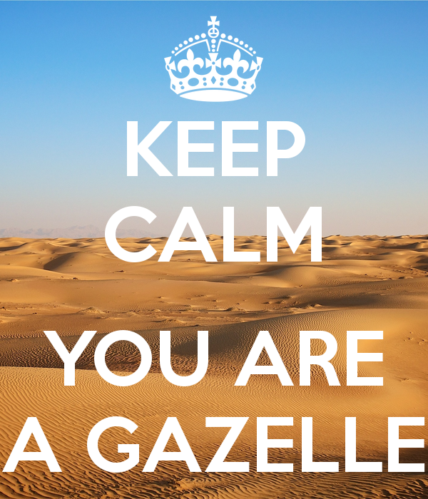 keep-calm-you-are-a-gazelle